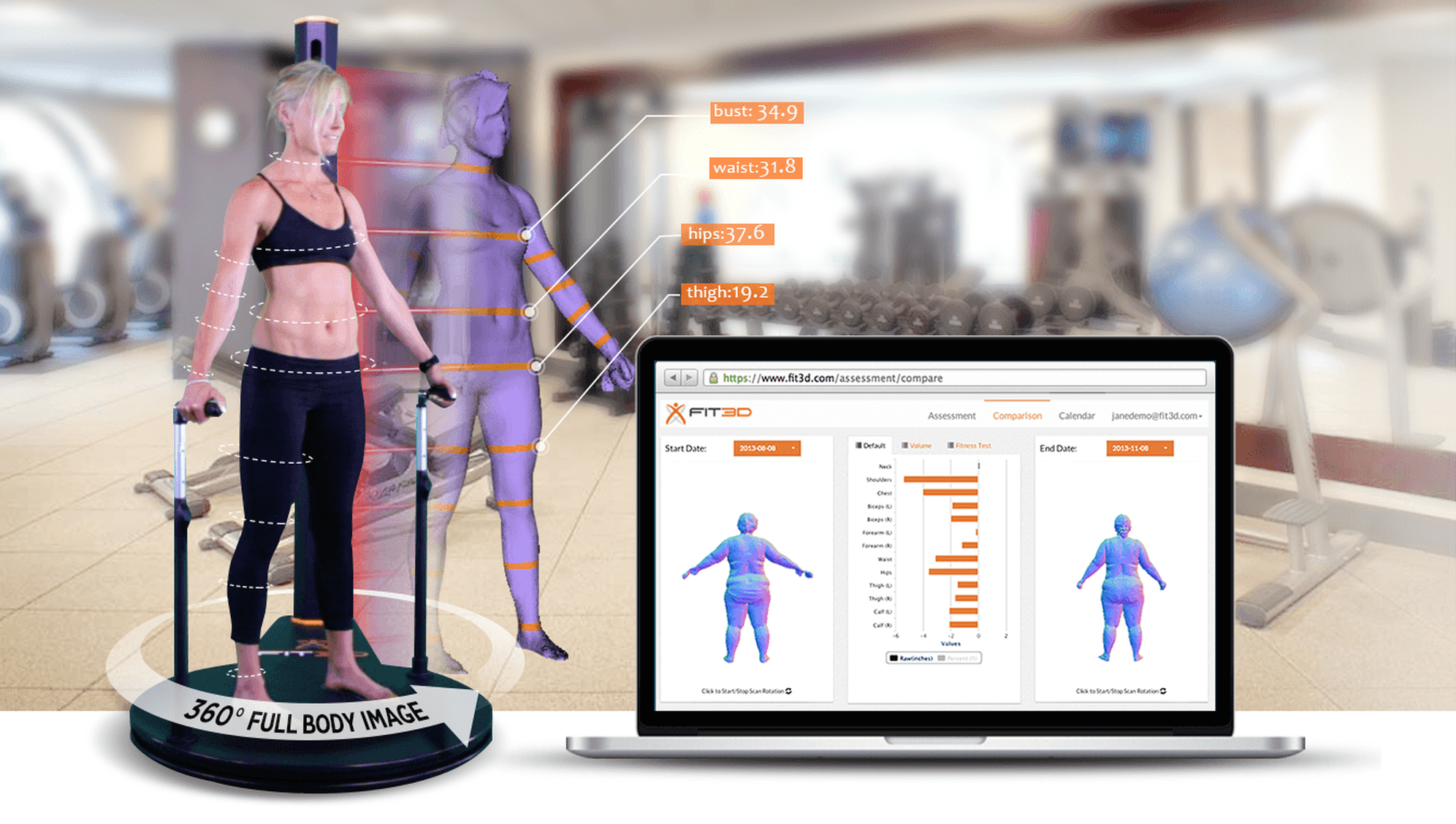 Fit3D Pro Scanner with Web Platform