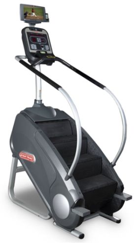 star trac fitness equipment cardio stairmill E-SMI with integrated screen