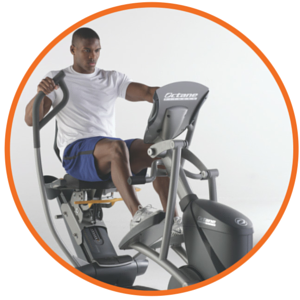octane fitness recumbent elliptical cross trainers