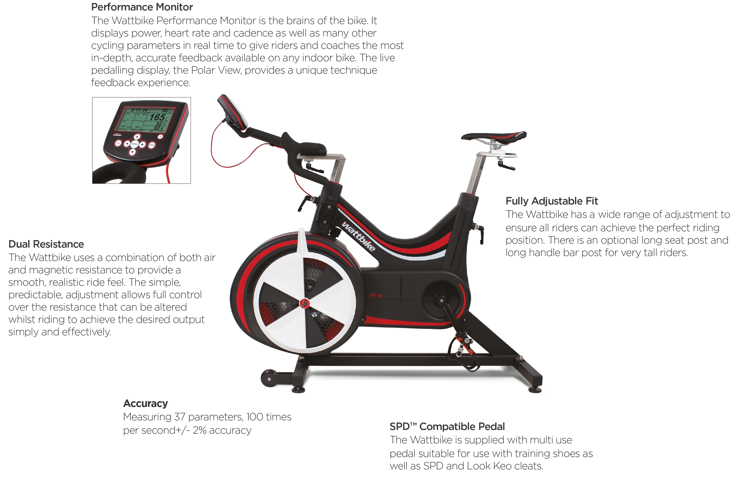 Wattbike Pro and Trainer Specs